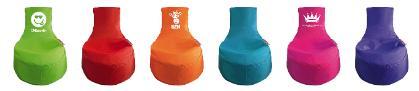 Die knallig-bunten Sitzsäcke von simply colors sind ein echter Hingucker im Kinderzimmer. Ab 39,95 Euro über www.simplycolors.de