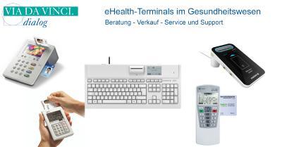 eHealth-Terminals im Gesundheitswesen, zugelassen für den Anschluss an die Telematikinfrastruktur in Arztpraxen, Zahnarztpraxen, Apotheken und Krankenhäuser