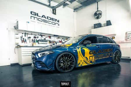 Barracuda meets JMS and Gladen - Ultralight Project 3.0 rims and new hi-fi for AMG A 35