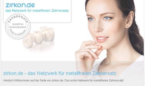 zirkon.de, Netzwerk für metallfreien Zahnersatz