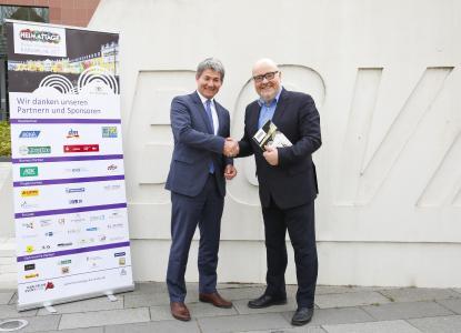 Professor Edgar Bohn, stellvertretender Vorstandsvorsitzender des BGV und Martin Wacker, Geschäftsführer der Karlsruher Event GmbH / Foto: Jürgen Rösner