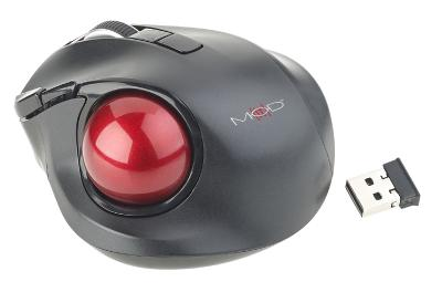 Mod-it Kabelloser Funk-Laser-Trackball mit 5 Tasten und Scrollrad, 1.200 dpi