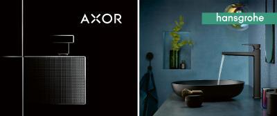 Auf über 2.000 Quadratmeter werden in der Frankfurter Festhalle die neuen AXOR und hansgrohe Produkte präsentiert. Halle 2 (Festhalle), Stand A.02
