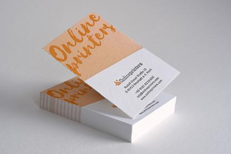 In 2016, Onlineprinters added 80 new items to its line of products and further expanded its service portfolio. Letterpress printed business cards are among the new products in the offering. This traditional intaglio method inspires numerous advertisers due to its exceptional look / Photo: Onlineprinters GmbH