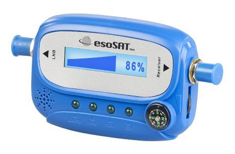esoSAT Digitaler Satelliten-Finder mit Kompass, LCD-Display und Tonsignal