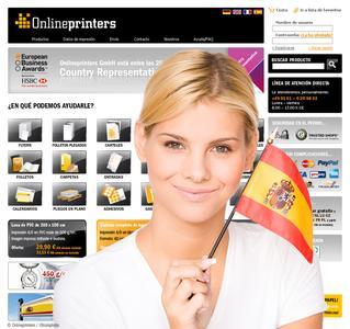 Spanischer Onlineshop: onlineprinters.es