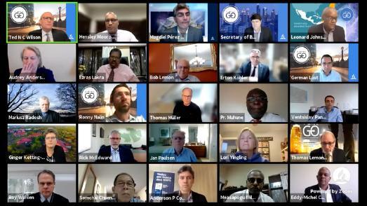 Zoom Bildschirm der Sitzung des Exekutivkomitees der adventistischen Weltkirchenleitung © Foto: GK der Adventisten