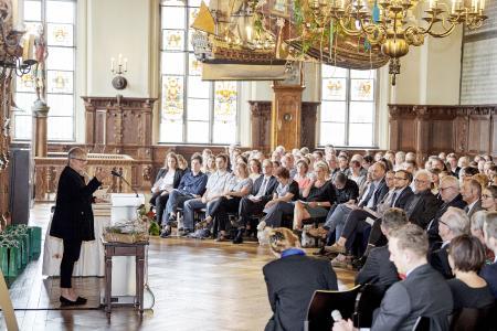 Grußworte von Rektorin Prof. Dr. Karin Luckey (Foto: Hochschule Bremen / Marcus Meyer Photography)