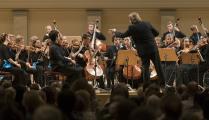 Die Deutsche Streicherphilharmonie mit Chefdirigent Wolfgang Hentrich / Foto: Kai Bienert