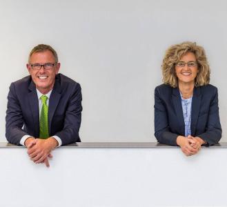 Wiedergewählt: Frank Brüggemann (Vorstandsvorsitzender) und Kirsten Budde (Vorständin)