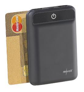 ZX 2819 11 revolt Powerbank im Kreditkartenformat 10.000 mAh 2 USB Ports 2.4 A 12 W