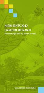 Veranstaltungs-Highlights Frankfurt Rhein-Main 2012