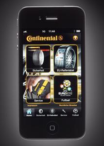 Kostenlose App rund um Pkw-Reifen, neues EU-Reifenlabel und Fußball-EM 2012 downloadbar
