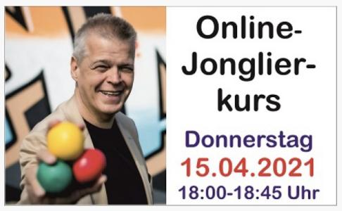 Online-Jonglierkurs am 15.4.2021 um 18 Uhr