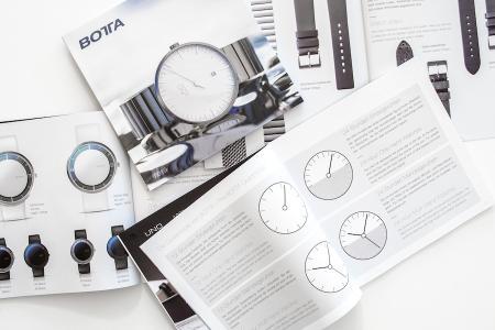Eine Uhr für jede Persönlichkeit - neuer Katalog von BOTTA erklärt Philosophie hinter den Uhren und wird zweisprachig