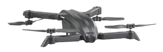 Simulus Faltbarer FPV-Mini-Quadrocopter GH-25.hd mit HD-Cam, WLAN & App, 2,4 GHz, 50 Meter