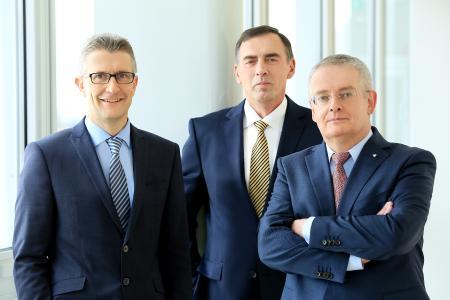 Die Vorstände der uniVersa (v.l.): Frank Sievert, Werner Gremmelmaier und Vorstandsvorsitzender Michael Baulig / Foto: uniVersa | Abdruck: honorarfrei