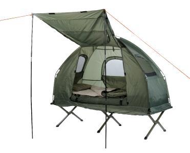 Semptec Urban Survival Technology  4in1-Zelt mit Feldbett, Winter-Schlafsack, Matratze und Sonnenschutz