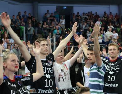HC Erlangen gewinnt und die Fans sind begeistert (Foto: hl-studios, HJKrieg, Erlangen)