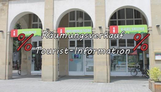 Räumungsverkauf der Tourist-Information Karlsruhe
