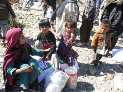 Die Lebensmittel helfen, auch die Kinder über den Winter zu bringen.