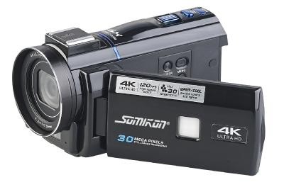 Somikon 4K-UHD-Camcorder DV-880.uhd mit Panasonic-Sensor, WLAN, App, HD mit 120 B/Sek., Bild: PEARL.GmbH / www.pearl.de