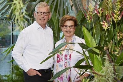 Annette Imhoff und Dr. Christian Unterberg-Imhoff, Geschäftsführung des Schokoladenmuseums Köln, engagieren sich für den Klimaschutz. Ab 2019 ist das Schokoladenmuseum klimaneutral