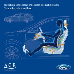 Individuelle Einstellungen ermöglichen eine rückengerechte Sitzposition beim Autofahren. / Bild: AGR