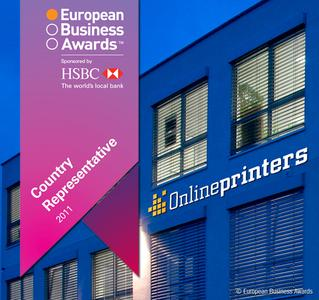 Onlineprinters GmbH für Deutschland nominiert © European Business Awards