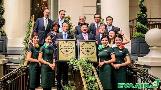 EVA AIR zum dritten Mal in Folge als SKYTRAX 5-Sterne-Airline zertifiziert - 5. Platz in den Top 10 Airlines der Welt und 1. Platz bei World's Best Airport Services