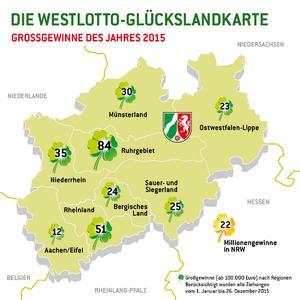 Die WestLotto - Glückslandkarte