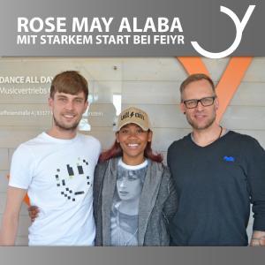 Rose May Alaba und Label Managers Jürgen Vonbank und Bernd Rösler