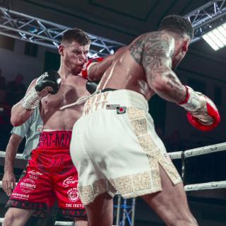 Gallagher (links) und Kiwitt im Kampf um jeden Punkt, Quelle: unknown_boxers