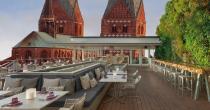 Visualisierung einer Dachterrasse auf dem heutigen Karstadt-Gebäude mit Blick auf die Marienkirche / Grafik: Projektgruppe Cocial City