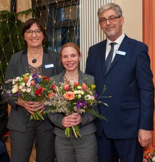 Der Vorstand der Seniorenstiftung Prenzlauer Berg: Angelika Pfab, Heidrun Kiem und Wilfried Brexel