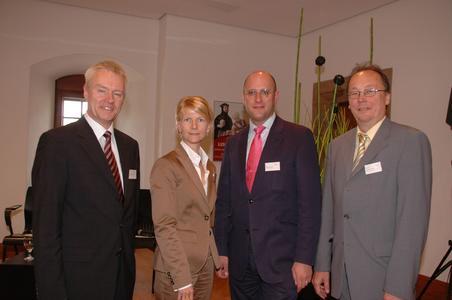 Die Diskutanten Harald Melcher, Dr. Johanna Dahm, Prof. Dr. Günter Seeber, Dr. Malte Herwig.