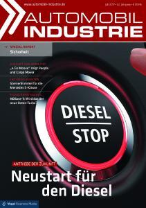 """In der aktuellen Ausgabe beschäftigt sich """"Automobil Industrie"""" mit den gängigen Argumenten gegen den Diesel – und zeigt gegenteilige Tendenzen auf. Foto: Automobil Industrie"""