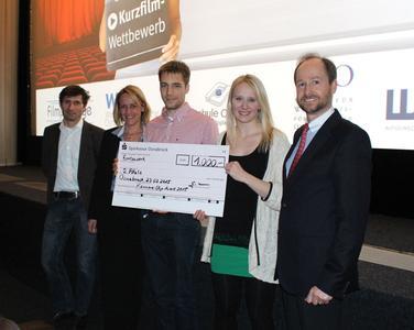 Das zweitbeste Team des Karriere-Clip-Wettbewerbs erhielt einen Preis in Höhe von 1.000 Euro