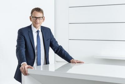 Frank Semling, Vorstand Digital, Arbeitsdirektor. Copyright: Hansgrohe SE / Andreas Pohlmann