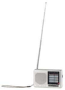 auvisio Analoger 9-Band-Weltempfänger mit FM, MW & 7x KW, Jackentaschen-Format