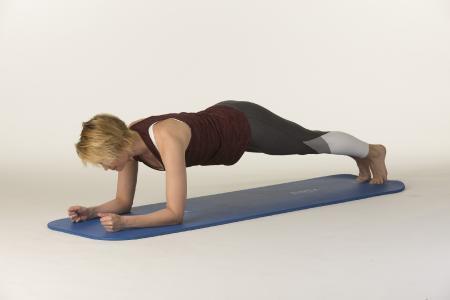 Stärkung des ganzen Körpers: Unterarmstütz/ Bild: AGR