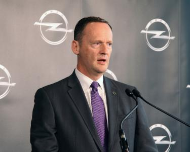 Dan Nicholson, GM Vice President Global Propulsion Systems, at the inauguration of the Global Propulsion Systems Center in Rüsselsheim