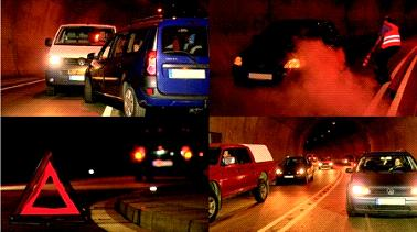 Ein Film der Bundesanstalt für Straßenwesen zeigt richtiges Verhalten in verschiedenen Gefahrensituationen im Straßentunnel / Bilder: BASt