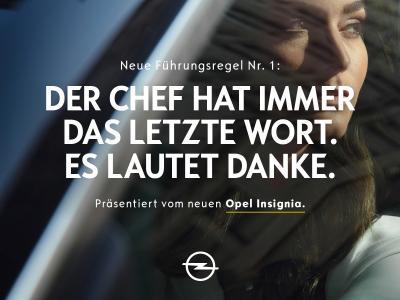 Integrativer Führungsstil: Mit zielgruppenspezifischen Botschaften vermittelt Opel, wofür die neue Insignia-Generation steht