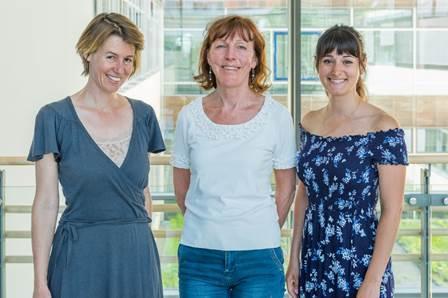 v.l.n.r.: Dr. Ines Dombrowski, Bärbel Bittler, Lydia Spinelli (Bildquelle: Markus Kümmerle, Städtisches Klinikum Karlsruhe)