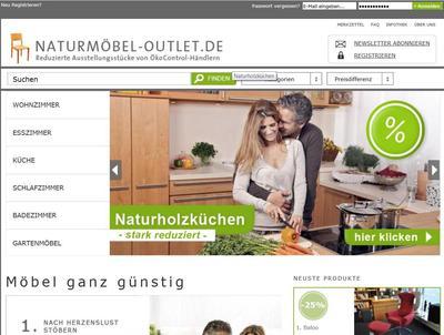 neu erstes naturm bel outlet online kocontrol pressemitteilung. Black Bedroom Furniture Sets. Home Design Ideas
