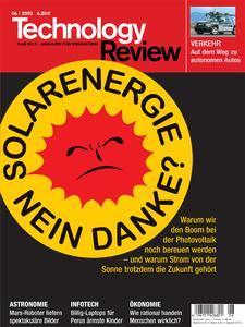 Das Titelbild der aktuellen Technology-Review-Ausgabe 6/2008