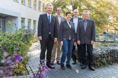 Das Organisationsteam der 47. Kontaktstudientage: Vorsitzender des Freundeskreises Marc-Guido Megies, Prof. Dr. Diemo Daum, Dr. Ilona Brückner, Prof. Dr. Henning Schacht und Prof. Dr. Rüdiger Anlauf (v.l.), Foto: Bettina Meckel