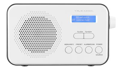 VR-Radio Mobiles Akku-Digitalradio DOR-215 mit DAB+ & FM, Wecker, Bluetooth 5, 8 Watt