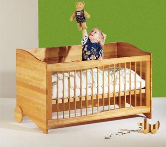 WDL Kindermöbel aus FSC Massivholz, Triline als Kinderbettchen